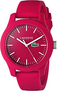 Lacoste Womens Ladies 12.12 Quartz Resin and Silicone Watch, Color:Pink (