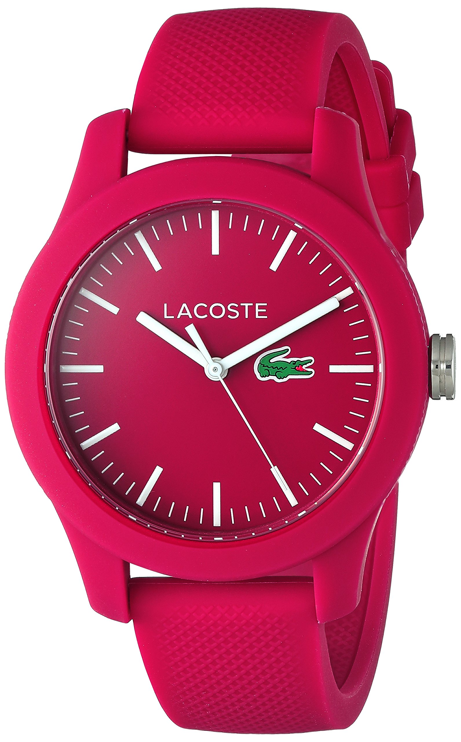 Lacoste Women's 'Ladies 12.12' Quartz Resin and Silicone Watch, Color:Pink (Model: 2000957) by Lacoste