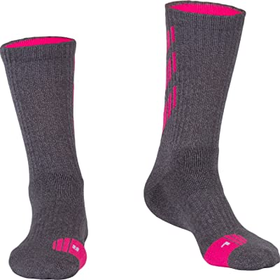 Fracer Women's Crew Basketball Stripe Half Cushioned Socks