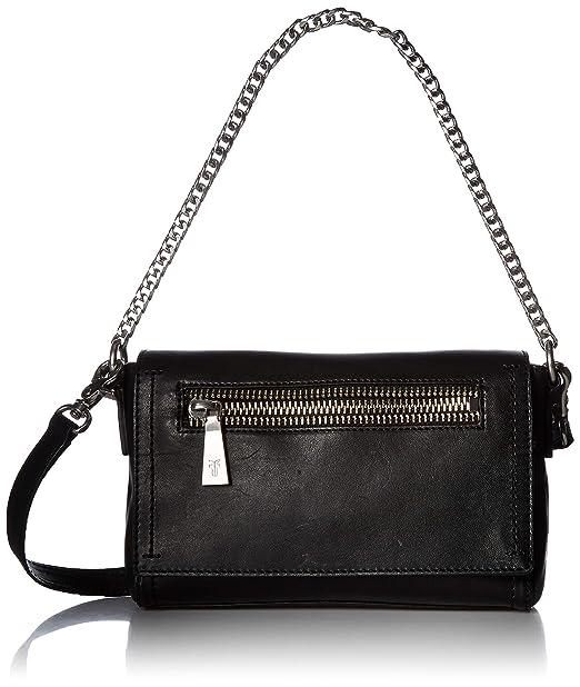 f565ff7b441c FRYE Lena Chain Zip Leather Crossbody Bag, black: Amazon.ca ...