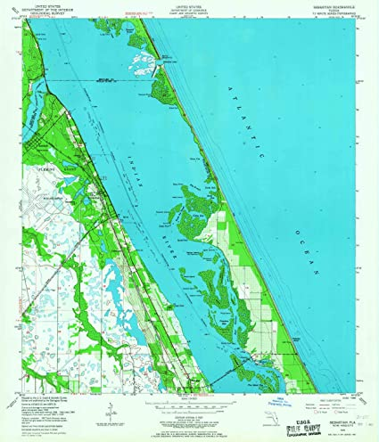 Sebastian Florida Map Amazon.: YellowMaps Sebastian FL topo map, 1:24000 Scale, 7.5
