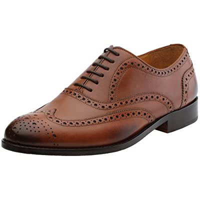 Amazon.com | 3DM Lifestyle Men's Classic Brogue Oxford Wing-Tip Lace up Leather Lined Perforated Dress Oxfords Shoes | Oxfords