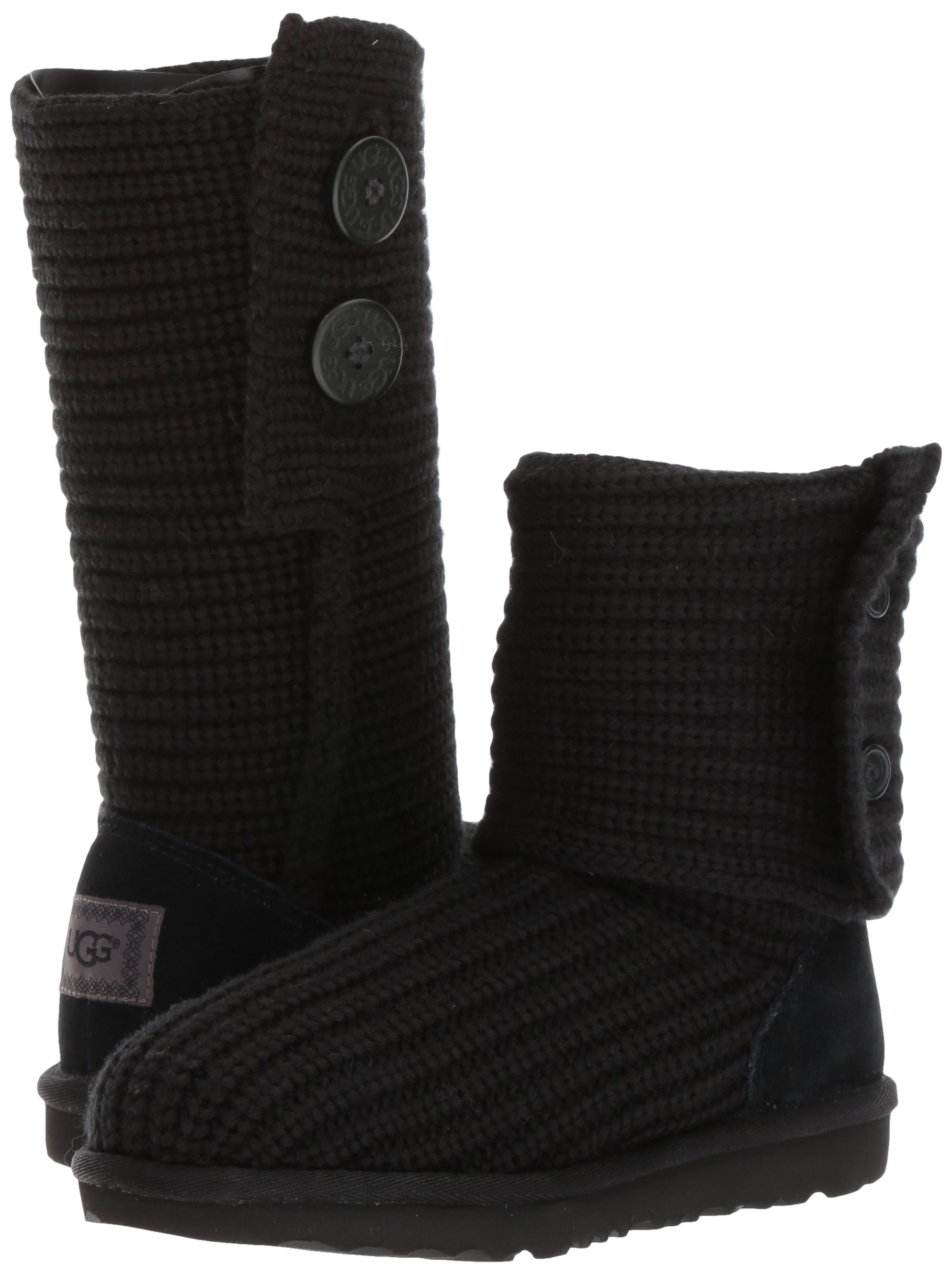 UGG Girls K Cardy II Pull-On Boot, Black, 8 M US Toddler by UGG (Image #6)