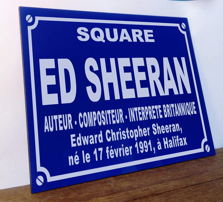 Ed Sheeran Plaque de Rue id/ée d/éco collectoin Cadeau pour Fan de