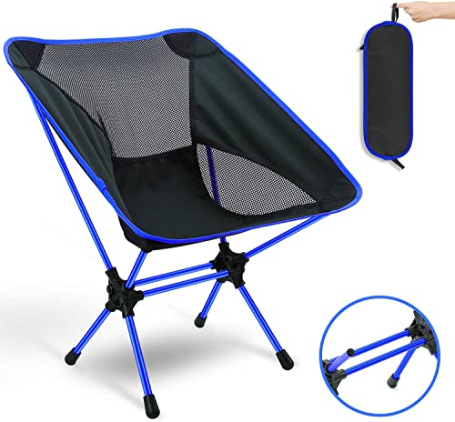 Outdoor Ultralight Folding Camping Chairs with Carry Bag for Backpacking,Hiking,Picnic. Blue