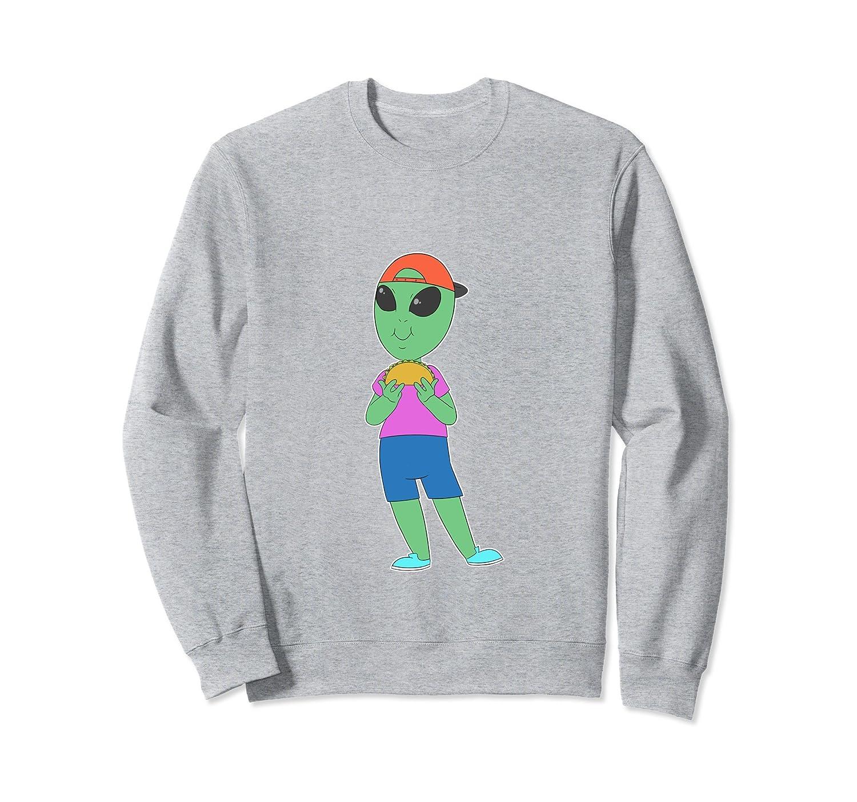 Taco Alien Taco Foodie Sweatshirt-4LVS