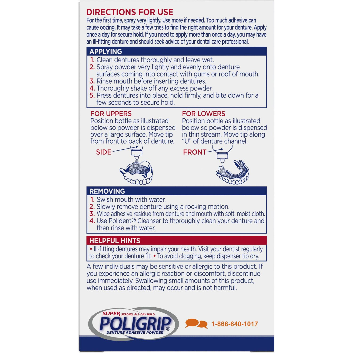 Super Poligrip Extra Strength Denture Adhesive Powder, 1.6 ounce (Pack of 6) (Packaging may vary) by Super Poli-Grip (Image #2)