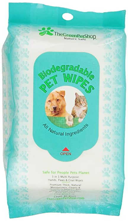 The Green Pet Shop - Toallitas biodegradables para Mascotas