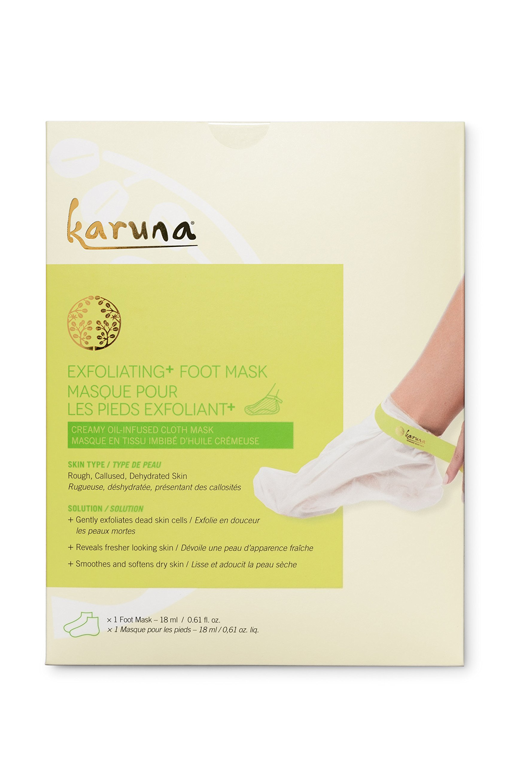 Karuna Single Exfoliating + Foot Mask, 0.61 fl. oz.