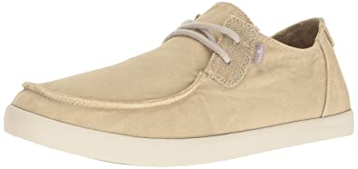 Sanuk Men's NU-Nami Sneaker, Washed Natural, ...