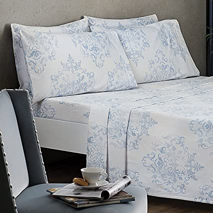 Perfect 100 Percent Cotton Medallion Flannel 6 Pieces Bed Sheet Set | For Men And  Women|