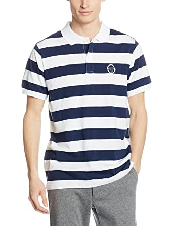 Sergio Tacchini TTG01818-NVW_Dress-Blue-Optic-White, Polo Homme, Blanc (NVW_Dress-Blue-Optic-White), L