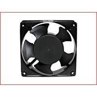 "MAA-KU AC Axial Cooling Blower Exhaust Rotary Fan, Size : 4.75"" inches (12 x 12 x 3.8 cm), Black"