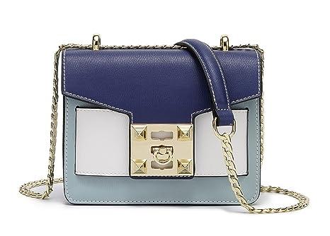 DEERWORD Para mujer Carteras de mano Bolsos bandolera Bolsos bolera Bolsos maletín Cuero Azul Claro