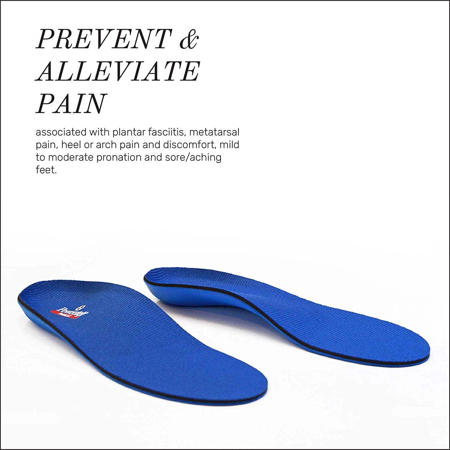 1445c43960 Amazon.com: Powerstep Pinnacle Shoe Insoles – Shock-Absorbing Arch Support  and Cushioning for Plantar Fasciitis: Shoes
