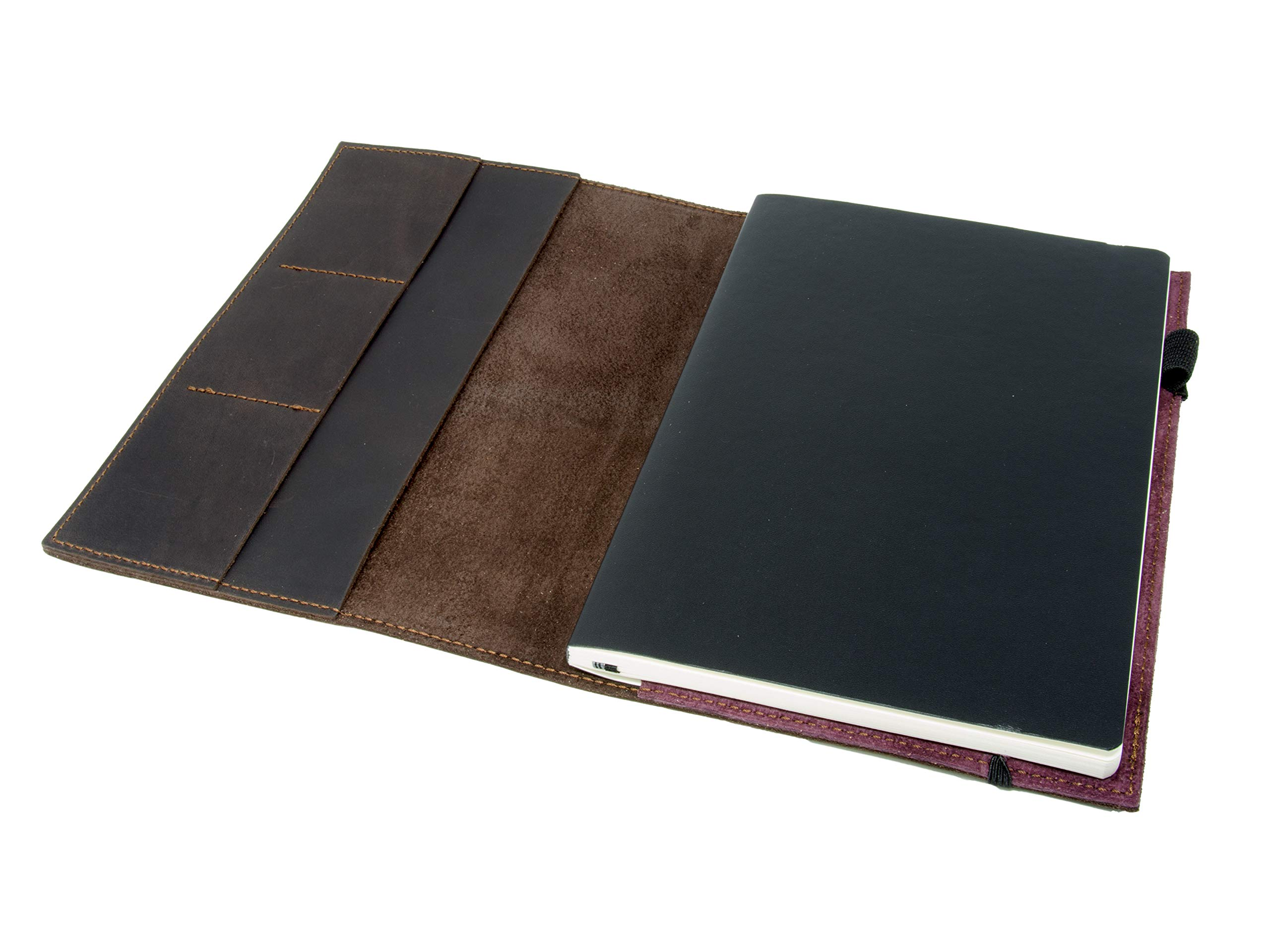 Leather Journal Leuchtturm1917 Medium A5 (5.75''x8.25'') Softcover Notebook Travel Journal Cover Distressed Leather Refillable Writing Diary with Elastic Closure (Brown Nut Case) by OleksynPrannyk