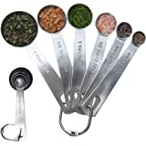 Latest 6-Piece Measuring Spoons Set - 1/8 TSP, 1/4 TSP, 1/2 TSP, 1 TSP, 1/2 Tbsp & 1 Tbsp Stainless Steel Measuring Spoons - Exact Kitchen Utensils When Measuring Dry Or Liquid Ingredients