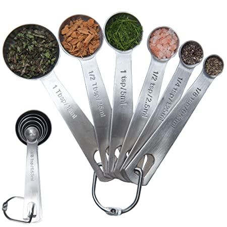 Latest 6-Piece Measuring Spoon Set - 1/8 TSP, 1/4
