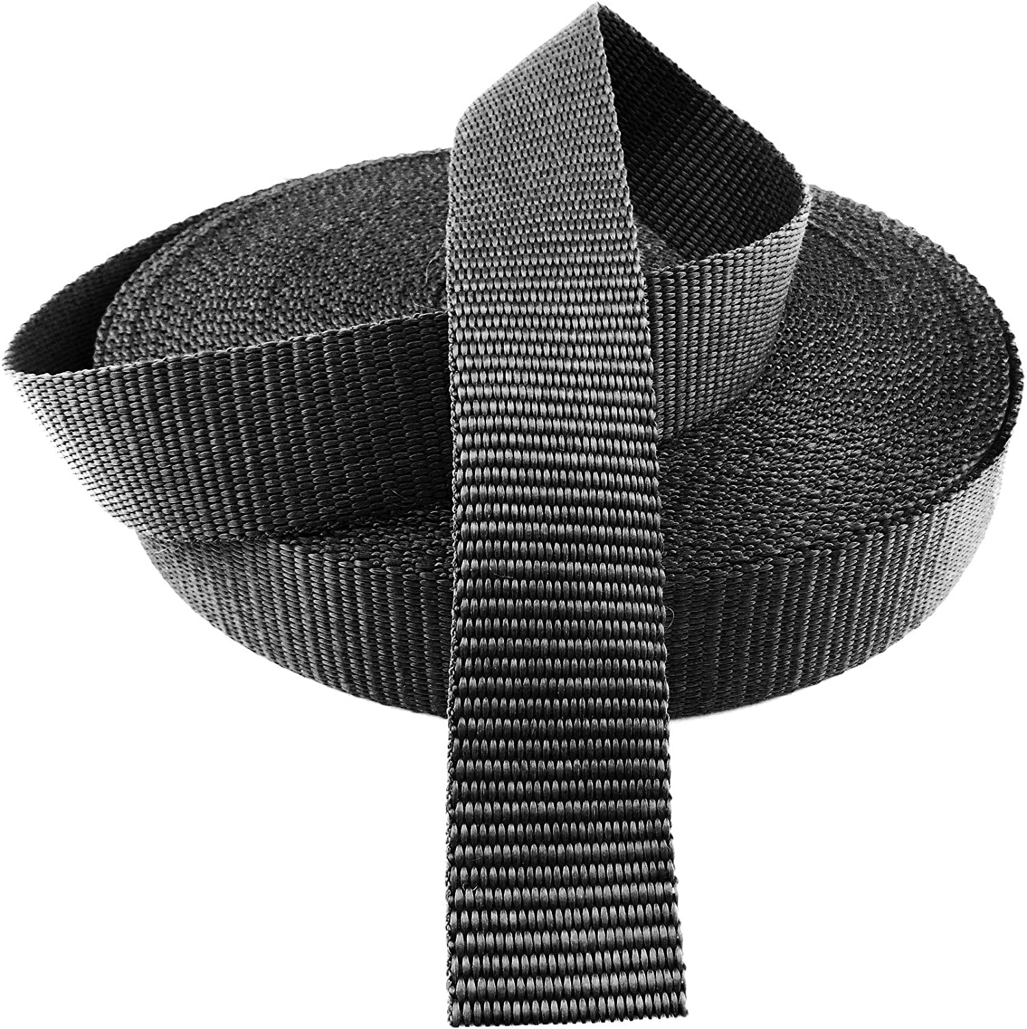 Polypropylene Webbing Nylon Strapping Bags Straps Weave 10 15 20 25 30 40 50 mm Green Grizzly 10 m 10 mm - B3M, Black