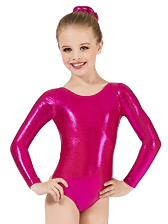 c83bc0dce7a3 Child Long Sleeve Metallic Leotard G545C