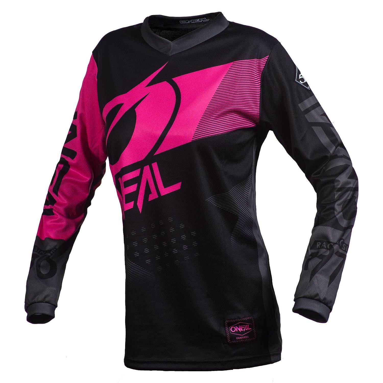 Black//Pink, L ONeal Element Factor Girls Jersey
