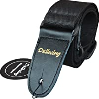 Dellwing Guitar Strap - For Electric Guitar, Bass Guitar, Acoustic Guitar, Classic Guitar - Premium In Black - Strap For Guitar Guitar Strap Concert Guitar And Classical Guitar