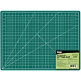 "US Art Supply 18"" x 24"" GREEN/BLACK Professional Self Healing 5-Ply Double Sided Durable Non-Slip PVC Cutting Mat Great…"