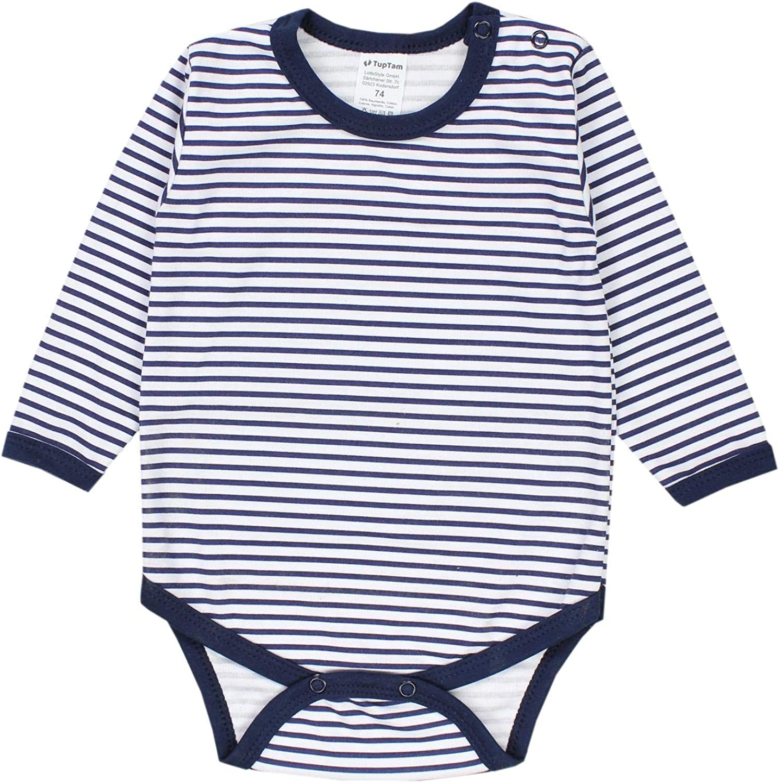TupTam Baby Boys Bodysuits Long Sleeve Plain Pack of 5