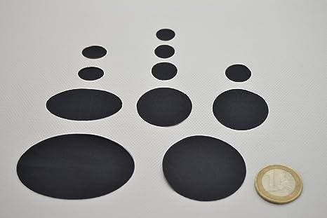 Kit de parches de color negro para chaquetas