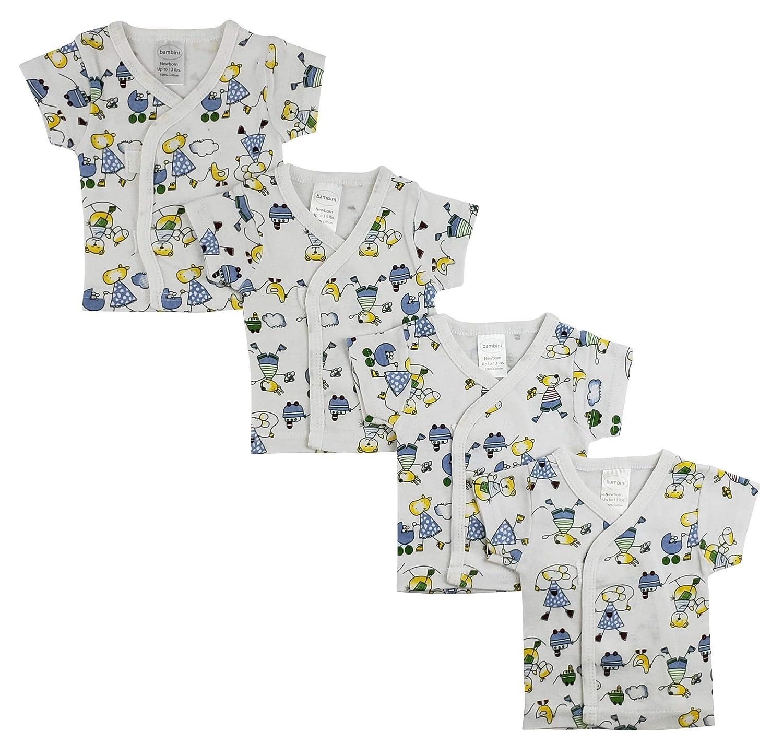 White Side Snap Short Sleeve Shirt White 4 Pack CS/_0205 Neutral