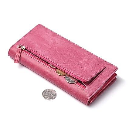 Amazon.com: huztencor Slim Womens Wallets RFID bloqueo ...