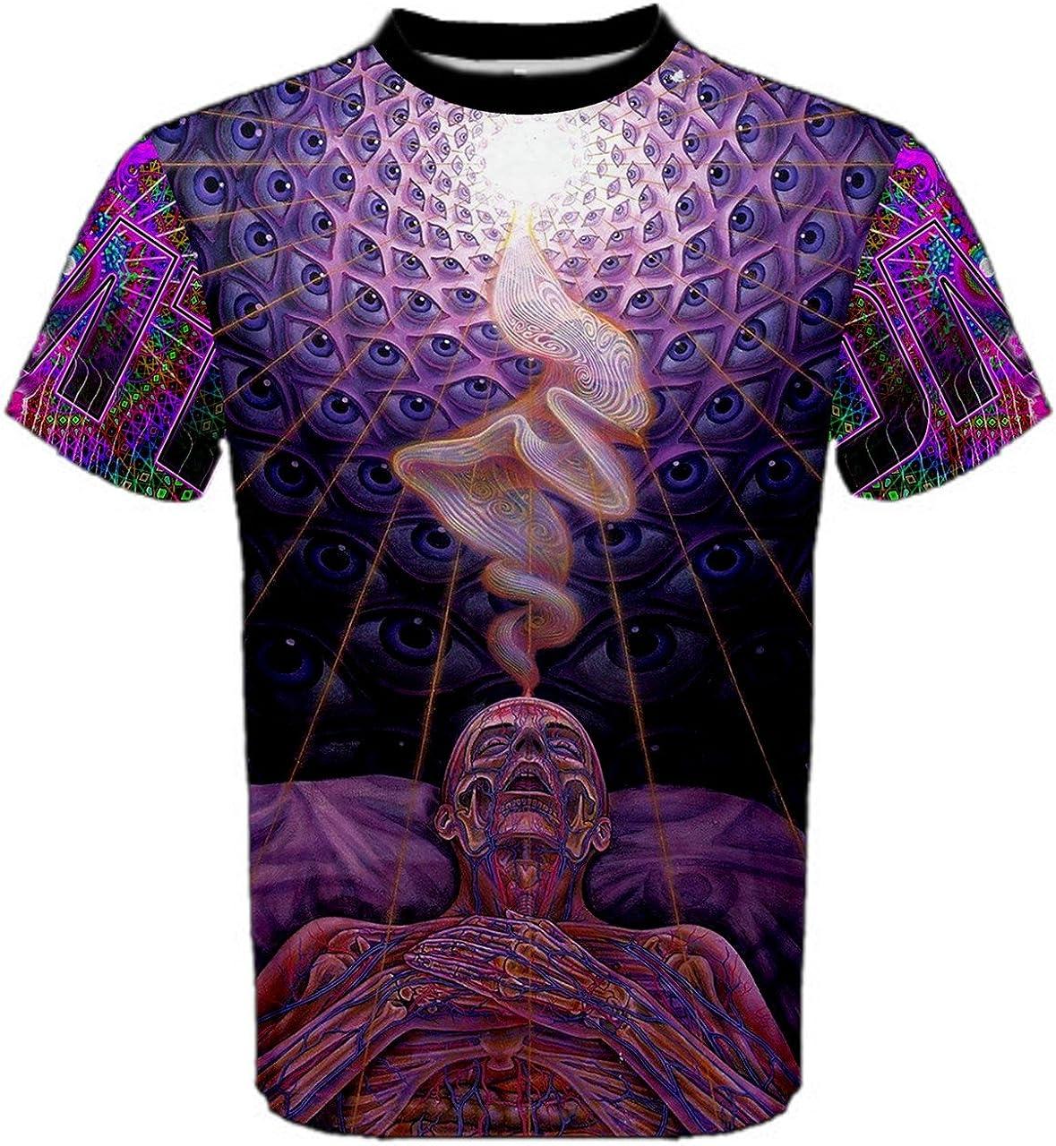 Camiseta para hombre worldx DMT Droga de alucinógeno LSD ACID Espiritual Hippie psicodélica: Amazon.es: Ropa y accesorios