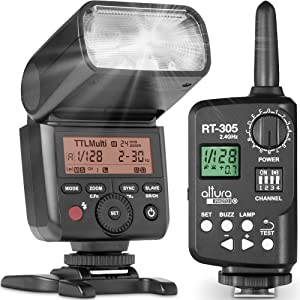 Altura Photo AP-305N Camera Flash Light with Manual Trigger for Nikon D3500 D3400 D3300 D5600 D5500 D5300 D850 D780 D750 D7500 D7200 Z6 Z7 Z50-2.4GHz I-TTL Speedlight for Mirrorless and DSLR Camera
