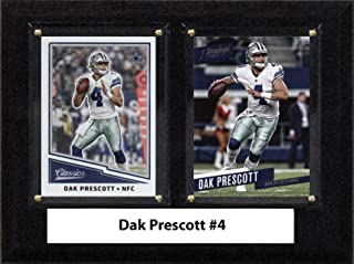 "product image for C&I Collectables NFL Dallas Cowboys Men's Dak Prescott Two Card Plaque, Brown, 6""X8"""