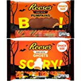 Reeses Peanut Butter Pumpkins and Ghosts Bundle Variety Pack Snack Size, 10.2 Ounces