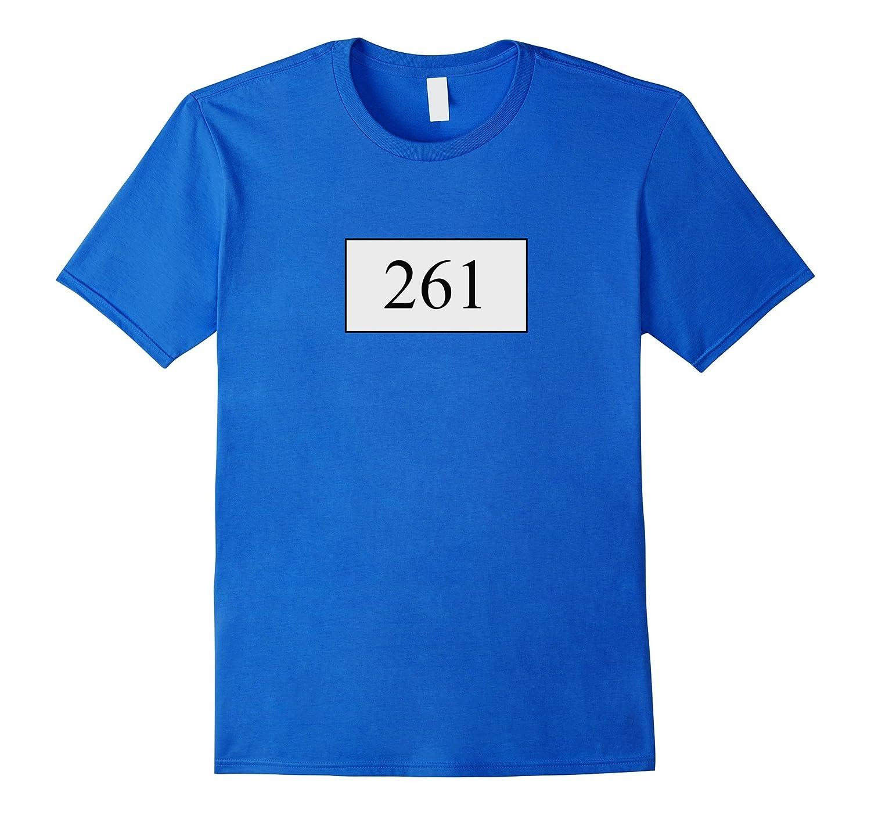 261 Marathon Number T-Shirt running gifts-TD