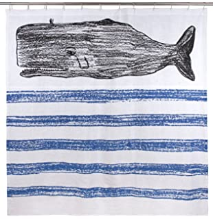 Thomaspaul Whale Sketch Shower Curtain 72 By