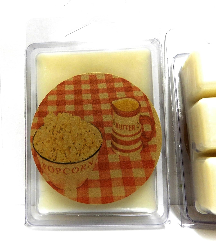 Hot Buttered Popcorn Scented Soy Wax Melts Vegan 6 Cavity Clamshell  Aromatherapy  Wax Warmer  Tea Light Melt  Tart Melt