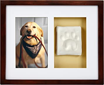 Dog Or Cat Owner Pearhead Pet Pawprint Clean Touch Ink Kit Desk Photo Frame for The Pet Lover