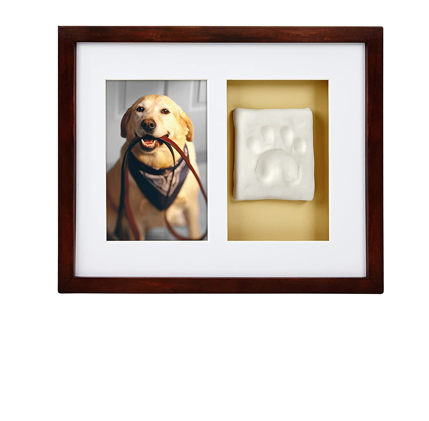 Pearhead Dog Or Cat Paw Prints Pet Wall Frame With Clay Imprint Kit Perfect Pet Keepsake Espresso