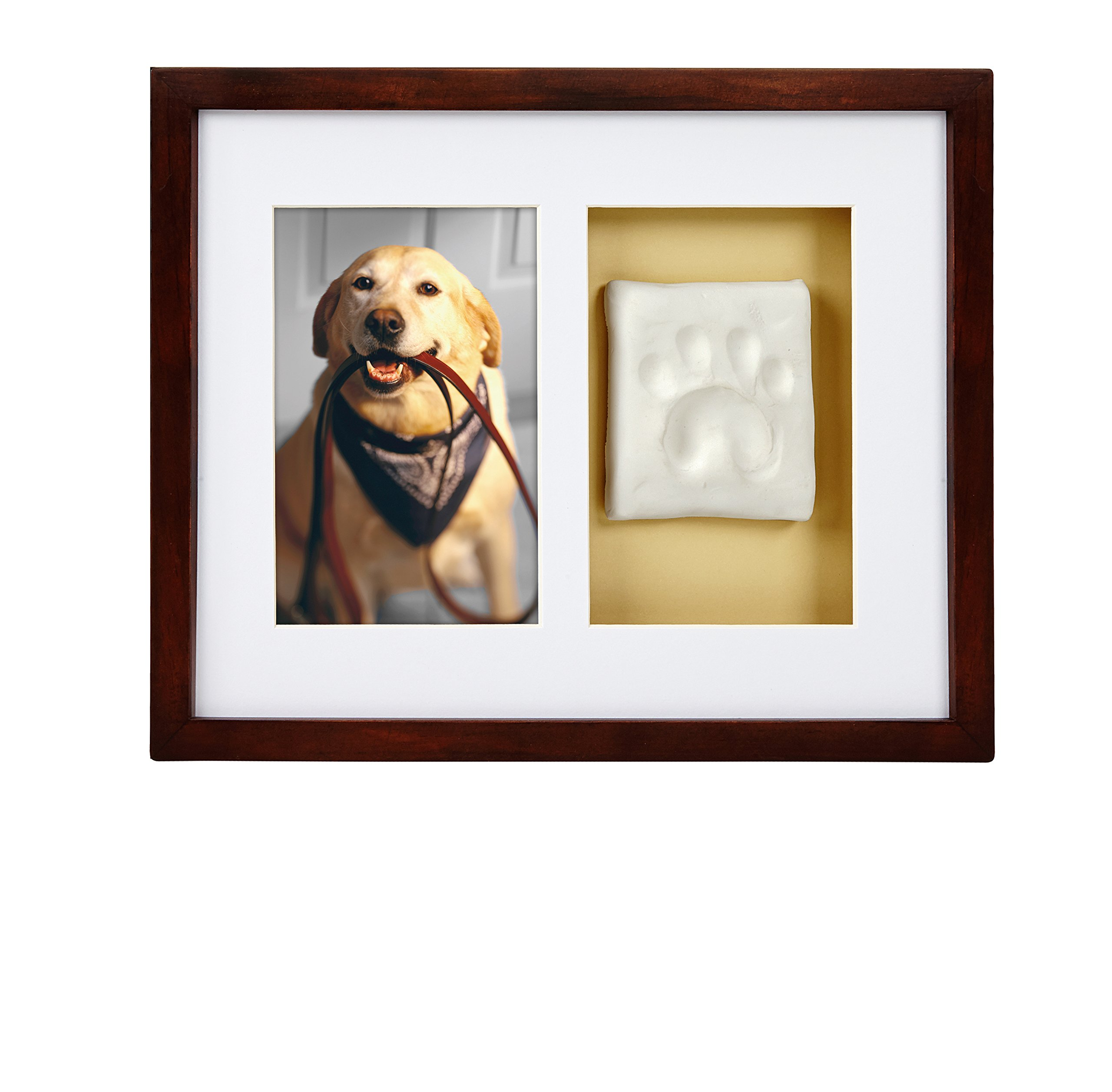 Pearhead Dog Or Cat Paw Prints Pet Wall Frame With Clay Imprint Kit, Perfect Pet Keepsake Espresso by Pearhead