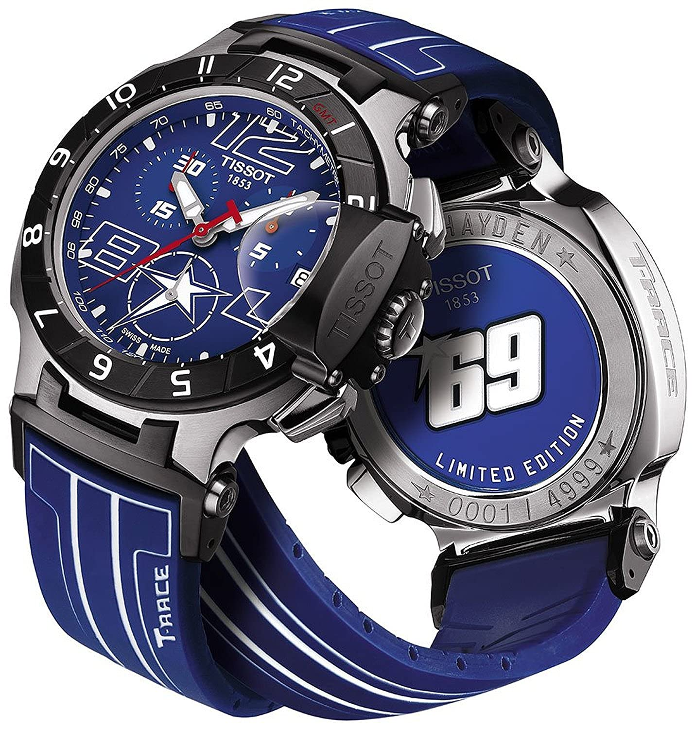 Amazon.com: TISSOT watch T-Race Nicky Hayden Ambassador Edition 2014 World limited 4999 this T0484172704700 Mens [regular imported goods]: Watches
