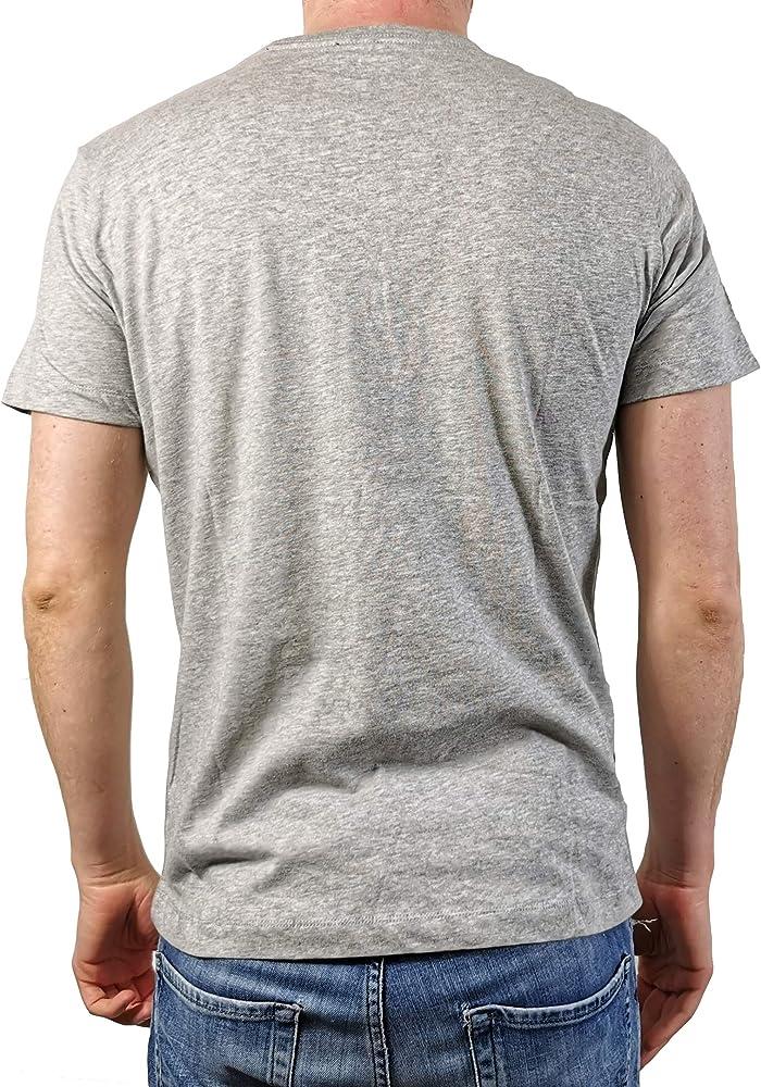 Diesel T-THERAPON - Camiseta para hombre, color gris claro gris claro S: Amazon.es: Ropa y accesorios
