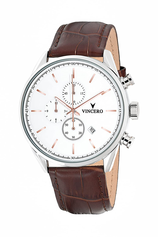 chrono-s Class weiß Armbanduhr mit italienischem Marmor CaseBack