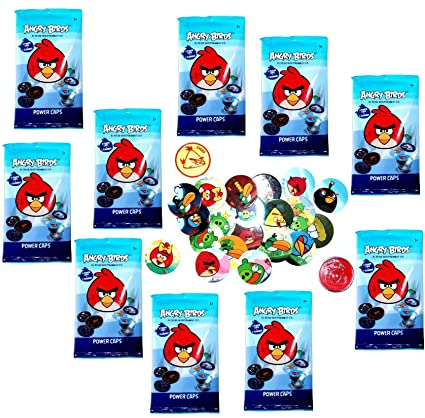 Amazon com: Angry Birds Pogs Power Caps Tazos Game Booster