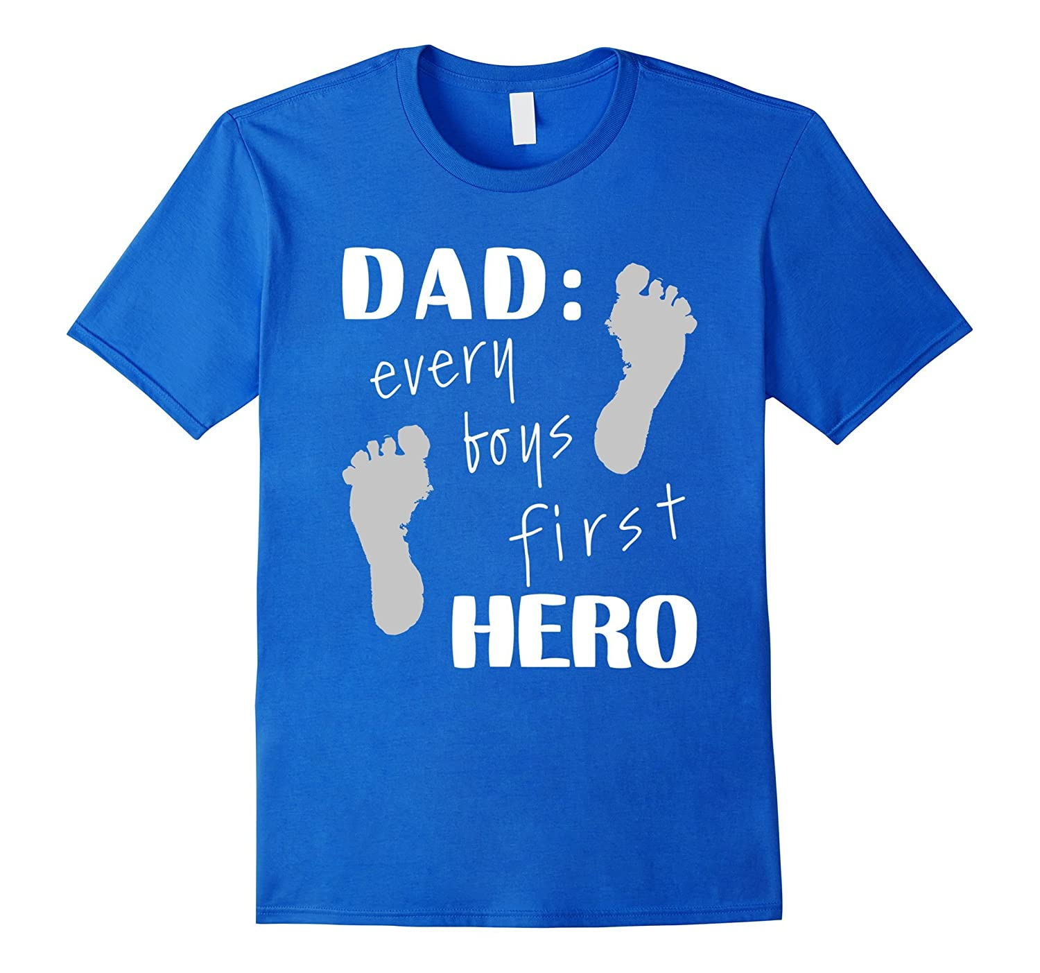 Mens Dad Every Boys Hero Tee Funny Son Dad Papa Grandpa T-Shirts-Vaci