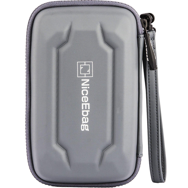 NiceEbag EVA Portable Electronics Accessories Carrying Storage Case Power Bank USB Data Cords Multiple External Hard Drive Healthcare Grooming Kit Travel Bag (Grey) by NiceEbag (Image #3)