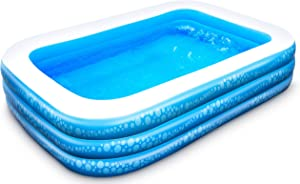Inflatable Pool, Hesung Family Swimming Pool for Kids, Toddlers, Infant, Adult, 95