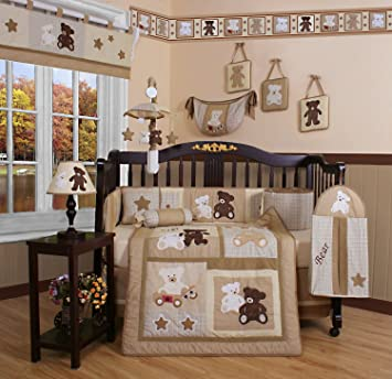 GEENNY Boutique 13 Piece Crib Bedding Set Baby Teddy Bear