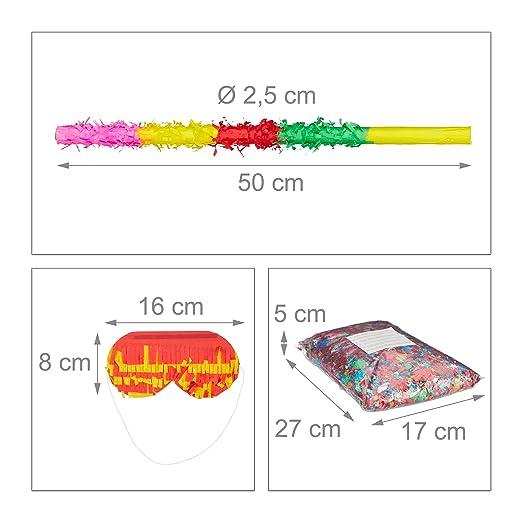 3 tlg Pinata Set Einhorn pink Pinatastab /& Augenmaske Geburtstagspinata Unicorn